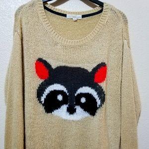 Rewind Raccoon Oversized Sweater